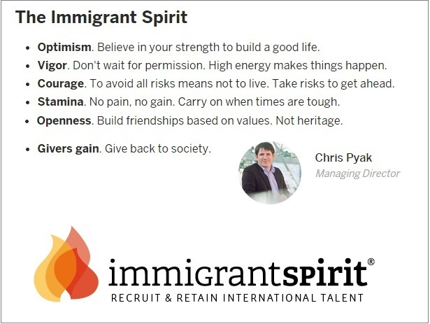 Embrace the immigrant spirit