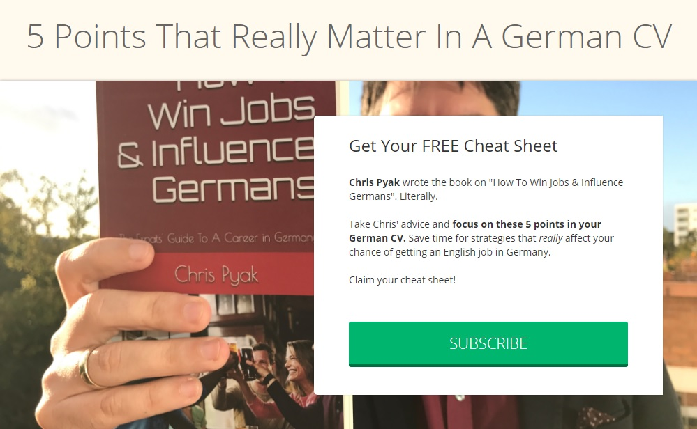 5 points that really matter for your german cv