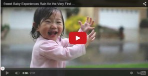 Korean baby girl loves the rain and might move to Düsseldorf