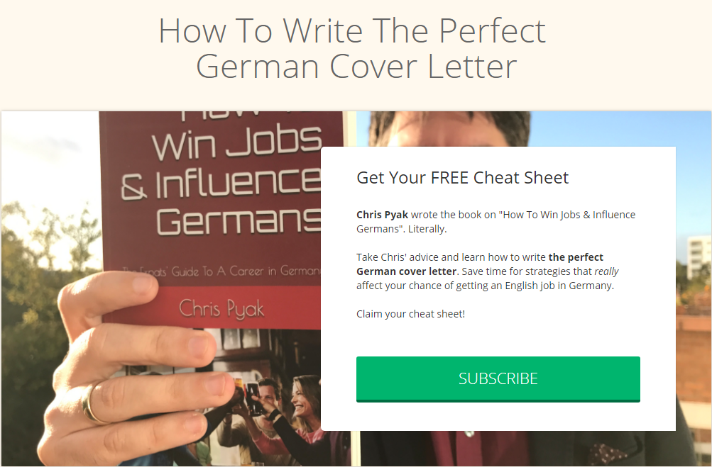 The Perfect Cover Letter For Germany Immigrant Spirit Gmbh