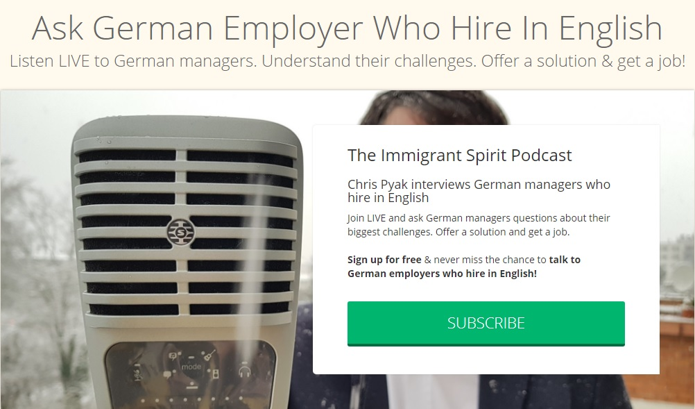 Talk to German employers who hire in English