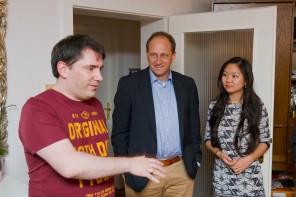 Alexander Graf Lambsdorff visits Chris Pyak