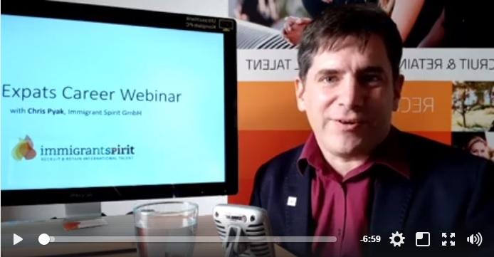 Expats Career Webinar with Chris Pyak